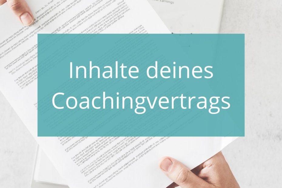 Coachingvereinbarung